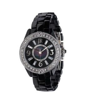 Judith Ripka Black Ceramic Stainless Steel Watch